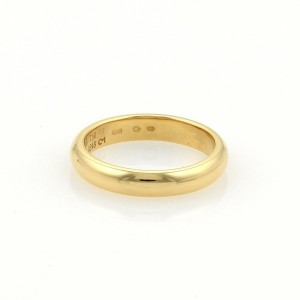 Cartier 18K Yellow Gold Plain Dome Wedding Band Ring Size 5