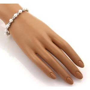 Tiffany & Co. Platinum Diamonds & Akoya Pearl Bracelet