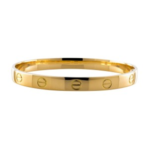 Cartier Love Aldo Cipullo 18K Yellow Gold Bracelet Bangle Size 17