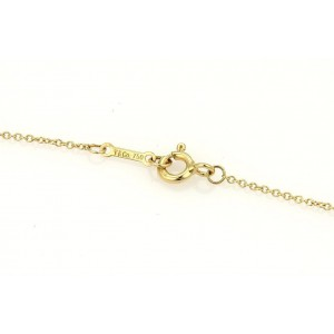 Tiffany & Co. 18K Yellow Gold Peretti Diamond Bean Pendant Necklace