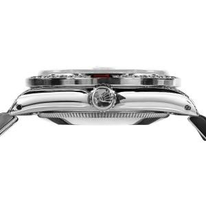 Rolex Datejust Stainless Steel Black Red Ruby Diamonds Bezel 36mm Unisex Watch