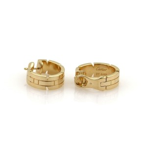 Cartier Tank Franchaise 18K Yellow Gold Oval Hoop Earrings
