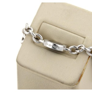 Bulgari 18K White Gold & Black Onyx 3 Circle Station Chain Bracelet