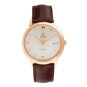Omega DeVille 42453402002001 18K Rose Gold Automatic 39.5mm Mens Watch