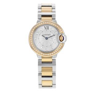 Cartier Ballon Bleu WE902076 Steel & 18K Rose Gold Quartz Ladies Watch