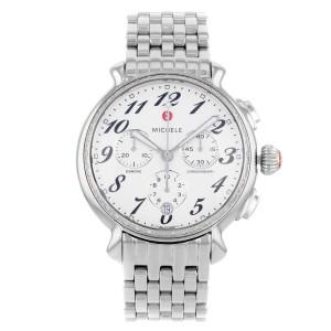 Michele Fluette MWW24A000001 Diamond Chronograph Stainless Steel Watch