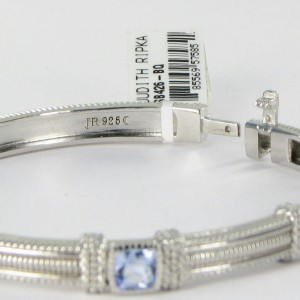 Judith Ripka La Petite Sterling Silver Blue Quartz Bracelet