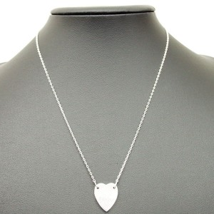 Gucci SV925 Sterling Silver Heart Tag Pendant Necklace