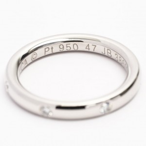 Van Cleef & Arpels 950 Platinum and Diamond Ring Size 4