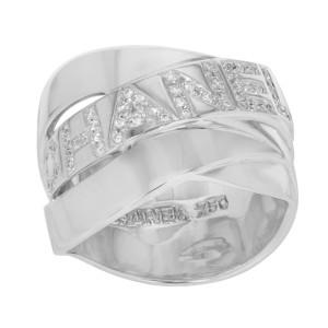Chanel 18K White Gold & 0.50 ctw Diamonds Ring Size 7