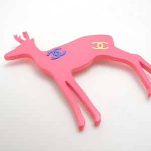 Chanel Pink Animal Pin Brooch