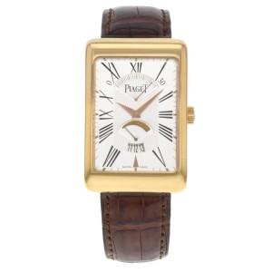Piaget Black Tie P10076 18K Rose Gold Automatic 30mm Mens Watch