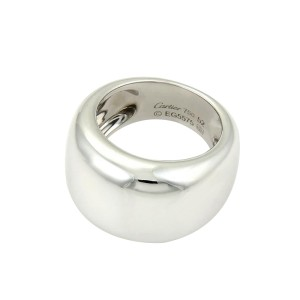 Cartier Nouvelle Vague 18K White Gold Dome Band Ring