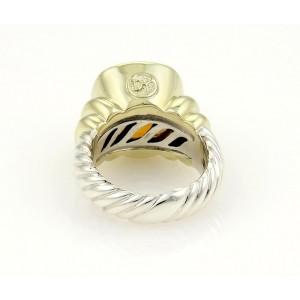 David Yurman Albion Sterling Silver 14K Y/G & Citråine Ring