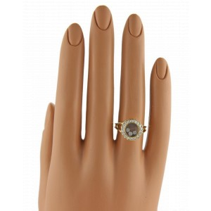 Chopard Happy Diamond 18K Yellow Gold Diamond Bezel Round Ring