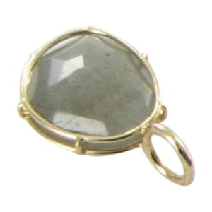 Heather B Moore 14K Yellow Gold Labradorite Wire Charm Pendant