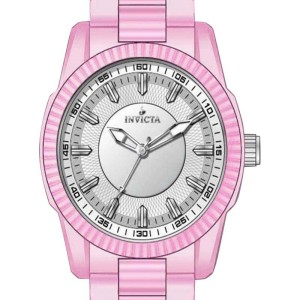 Invicta 15317 White Dial Pink Ceramic Quartz Women's Watch