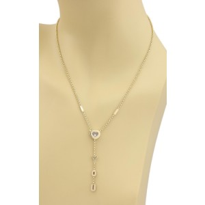 "Chopard 18K Yellow Gold Happy Diamonds ""I Love You"" Heart Lariat Necklace"