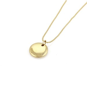 "Tiffany & Co. 18K Yellow Gold Initial ""G"" Round Pendant Bead Necklace"