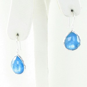 Ippolita Ice Blue Qtz Doublet 925 Sterling Silver Drop Earrings
