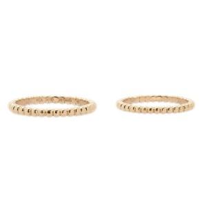 Van Cleef & Arpels 750 Rose Gold Ring Size 4.5