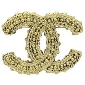 Chanel Gold Tone Metal Pin Coco Mark Brooch