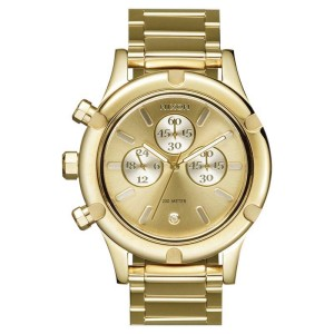 Nixon 'The Camden Chrono' A3541219 Gold Tone Stainless Steel 45mm Womens Watch