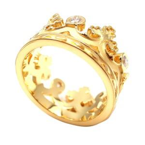 Carrera Y Carrera 18K Yellow Gold Mi Princes Spanish Crown Ring