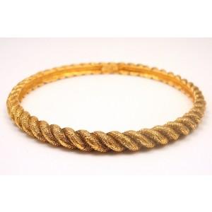 Vintage Chanel Couture Gold Tone Bracelet