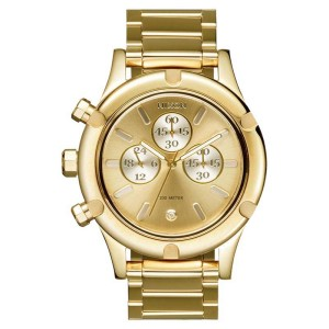 Nixon 'The Camden Chrono'  A3541219 Gold Dial Gold Steel Bracelet Womens Watch