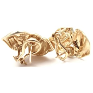 Tiffany & Co. 14K Yellow Gold Vintage Bow Earrings