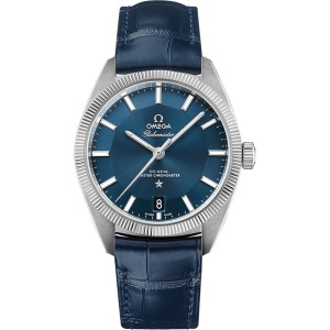 Omega Constellation Globemaster 130.33.39.21.03.001 Stainless Steel Blue Dial 39mm Mens Watch