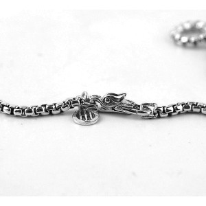 John Hardy 925 Sterling Silver Classic Chain Dog Tag Necklace