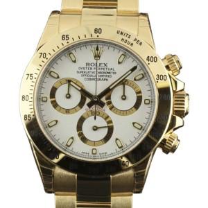 Rolex Daytona 116528 Yellow Gold White Dial Automatic 40mm Mens Watch 2017