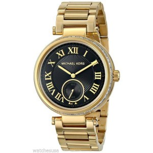 Michael Kors MK5989  Skylar Gold-Tone Stainless Steel Bracelet 38mm Womens Watch