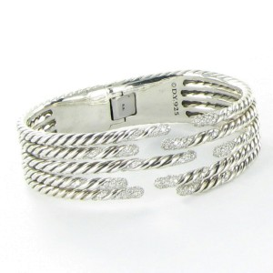 David Yurman Willow 925 Sterling Silver with 1.53ct Diamond Bracelet