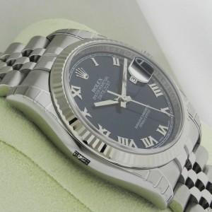 Rolex Datejust 36mm Blue Roman Jubilee Fluted 116234