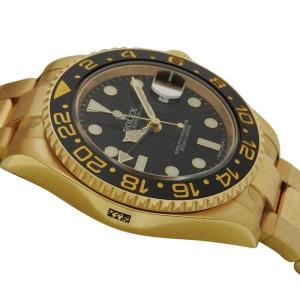 Rolex GMT Master II 116718 BK 40mm 18K Yellow Gold Black Dial Watch