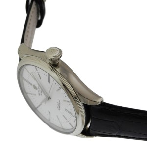 Rolex Cellini Time 50509 18K White Gold White Lacquer Dial Unisex Watch