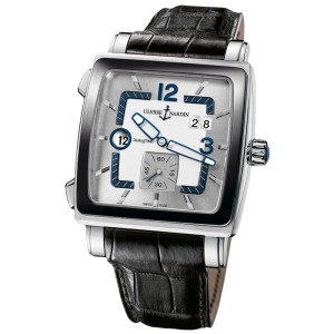 Ulysse Nardin Quadrato Dual Time 243-92cer/601 Stainless Steel Watch