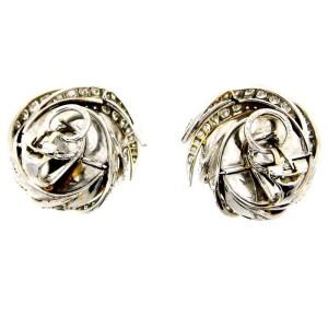 Sterle 18K White Gold Diamond & Mobe Pearl Earrings