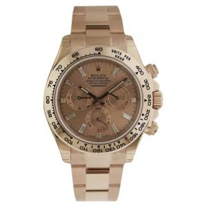 Rolex 116505 Daytona Cosmograph Everose Pink Diamond Rose Gold 40mm Mens Watch