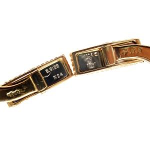 Van Cleef & Arpels 18K Yellow Gold Vintage Alhambra Onyx Cufflinks