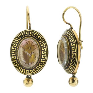 14k Yellow Gold Victorian One-of-Kind Earrings