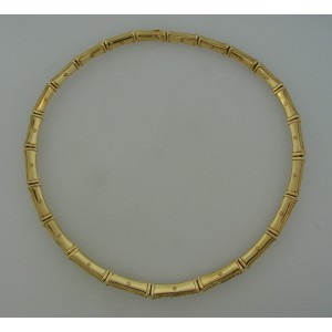 Cartier Bamboo 18K Yellow Gold 6.0ct of Diamond Necklace