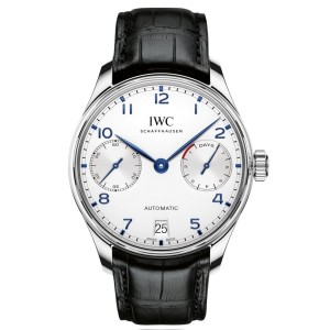 IWC Portugieser iw500705 Stainless Steel & Silver Dial Automatic 42.3mm Mens Watch