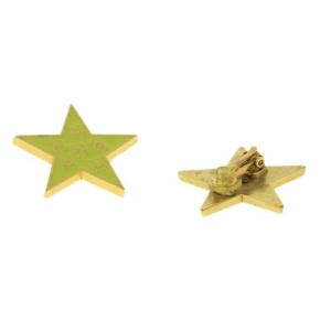 Chanel Gold Tone Metal Coco Mark Clip-on Earrings