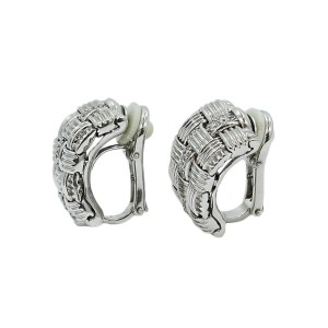 Roberto Coin Appassionata 18K White Gold and Diamond Earrings