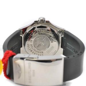Breitling Aeromarine Colt GMT A32370 Diamond Swiss Automatic Silver Mens Watch
