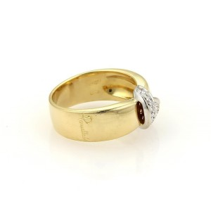Pomellato 18K Two Tone Gold Diamonds Ribbon Wrap Band Ring